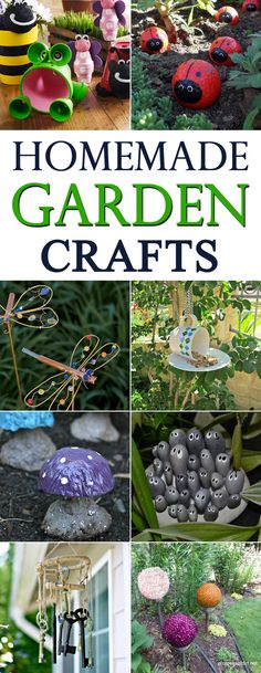 Does your garden need a little bit of sprucing up? Check out these amazing garden craft ideas!