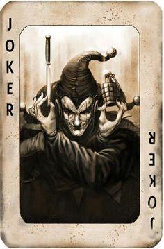 evil joker card -