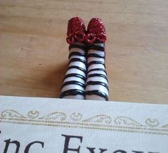 Bookmark... Wizard of Oz - wicked witch of the east! HA!!