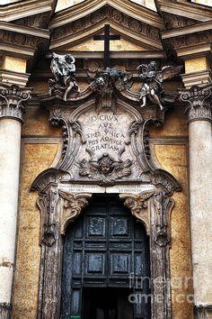 Rome Green Door Photograph by John Rizzuto