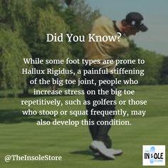 #FootFacts #HalluxRigidus #Golf