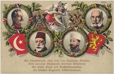 İttifak devletleri Almanya İmparatorluğu, Osmanlı İmparatorluğu, Bulgaristan Krallığı, Avusturya-Macaristan İmparatorluğu hükümdarları