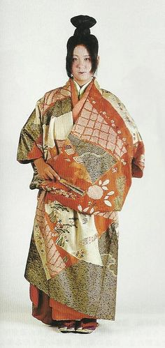 "Scan G3 : Scans from book ""The History of Women's Costume in Japan.""  Scanned by Lumikettu of Flickr.  Exacting recreation of Japanese costume many centuries ago…"