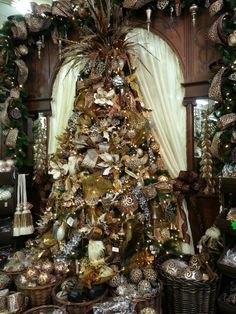 Gold and Brown Christmas tree