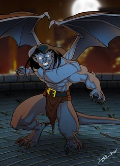 I tough it would be cool to show them individually elements from this piece: A We are GARGOYLES, Goliath Gargoyles Cartoon, Disney Gargoyles, Gargoyles Characters, Goliath Gargoyles, Marvel Dc, Aliens, Morning Cartoon, Fanart, 90s Cartoons