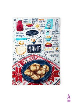 Moldavian Recipes - illustrated by madalina andronic, via Behance