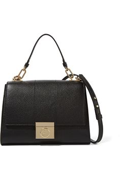 Versace CollectionTextured-leather shoulder bag