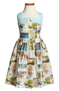 Mini Boden 'Fifties Summer' Print Sleeveless Cotton Dress (Toddler Girls, Little Girls & Big Girls) | Nordstrom