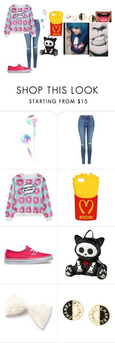"""""""kjhg"""" by annie-hall-barton ❤ liked on Polyvore featuring Topshop, WithChic, Moschino, Vans, Chanel and Venom"""