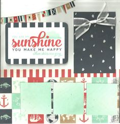 You Are My Sunshine - 2 page scrapbooking layout kit by CropALatteToGo on Etsy