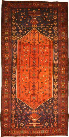 Semi-Antique Authentic Persian Koliaei rug.