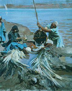 John Singer Sargent: Egyptians Raising Water from the Nile (50.130.16)   Heilbrunn Timeline of Art History   The Metropolitan Museum of Art