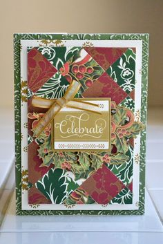 Anna Griffin paper - new Christmas collection - Yuletide Greetings