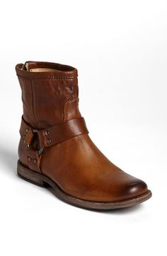 Free shipping and returns on Frye 'Phillip' Harness Boot at Nordstrom.com. Signature side-harness rings style a leather boot, distressed by hand for a vintaged finish. Bench-crafted by hand, Frye's 150-year-old heritage of quality leatherwork is evident in every style.