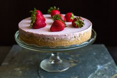 Recipe: Double Strawberry Cheesecake by Melissa Clark || Photo: Andrew Scrivani for The New York Times