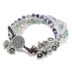 Garden Treasures Bracelet | Fusion Beads | As seen in Beading Daily Jewelry 2016