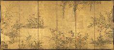 86. 花野菜四季図屏風, Flowering Plants and Vegetables of the Four Seasons - Edo period (early 18th century)