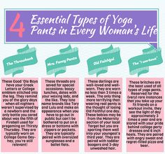 The 4 Types of Yoga Pants Every Woman Needs by the_stylish_mommy