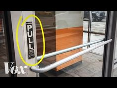 HUMAN CENTERED DESIGNED DOOR: Push = flat plate!! / Pull is handle >>>Bad doors are everywhere. It's not you. NORMAN - YouTube