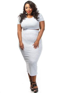 Plus Size Ribbed Crop Top