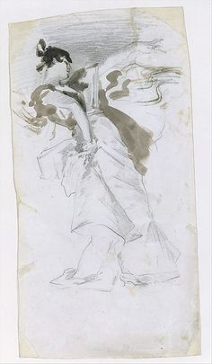 """John Singer Sargent (American,1856-1925). After El-Jaleo, ca. 1882. The Metropolitan Museum of Art, New York. Gift of Mrs. Francis Ormond, 1950. (50.130.139) 