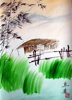 The Hut of Wisdom. Painting by Renat L.