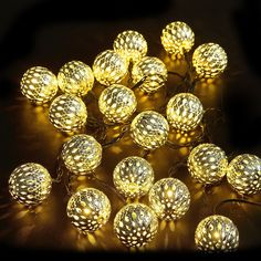 christmas Decorations Lights with 16ft 20 LED Solar Powered String light and High Efficiency Solar Panels(warm white) > You can get additional details, click the image : Garden Christmas Decorations