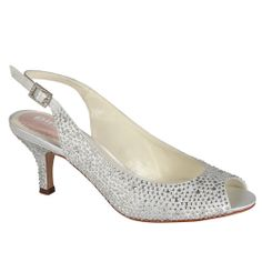 Glimmer. Silver wedding shoes from Georgies Bridal Shoes