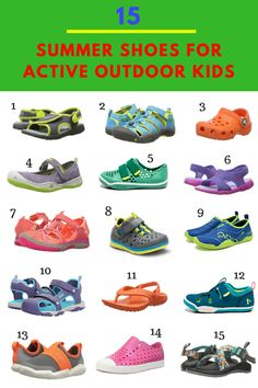 Sharing our favorite summer shoes and sandals for active kids. These top picks of outdoor moms are durable, waterproof and comfortable for kids of all ages. Toddler Shoes, Kid Shoes, Best Summer Shoes, Trekking Outfit, Outdoor Baby, Outdoor Gear, Outdoor Activities For Kids, Family Activities, Kids Sandals