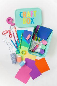 DIY: caja de manualidades y dibujos para niños.