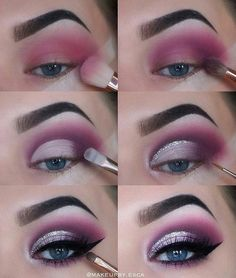 Natural Smokey Eye Makeup Make You Brilliant eye makeup tutorial; eye makeup for brown eyes; eye makeup for brown eyes; Eye Makeup Glitter, Pink Eye Makeup, Makeup For Brown Eyes, Cute Makeup, Eyeshadow Makeup, Makeup Brushes, Beauty Makeup, Makeup Looks, Makeup Remover