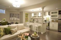 Light & airy basement suite