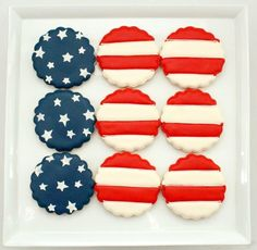 Memorial Day, Veteran's Day or Independence Day cookies