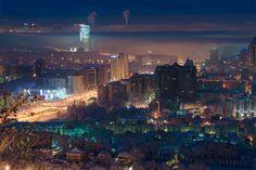 Almaty at night
