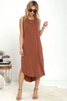 Midnight Lady Washed Red Midi Dress at Lulus.com! #mididress