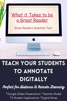 """Are you looking to teach annotating text digitally in your ELA classroom? In this bundle, I tried to simplify the annotation process with clear-cut directions, modeling, and application for your middle school students. The students will learn how to use common symbols to annotate. In addition, there are slides for teaching students how to """"chunk"""" information."""