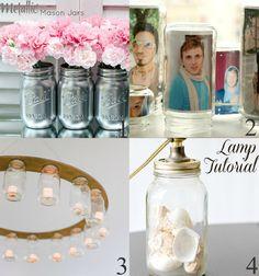 Mason Jar Ideas #masonjars #lighting