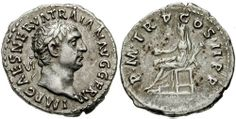 Trajan Denarius. IMP CAES NERVA TRAIAN AVG GERM, laureate head right / P M TR P COS II P P, Vesta seated left, veiled, holding patera & torch.