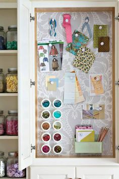 Organizing Sewing Supplies: 20 Super Simple Ideas   Decorating Files   #OrganizingSewingSupplies #SewingOrganization