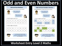 This resource contains a worksheet on identifying odd and even numbers. It has been designed for students working towards the AQA Entry Level Certificate i. Certificate Of Achievement, Aqa, Place Values, Entry Level, Student Work, Teaching Resources, Free Printables, Numbers, Activities