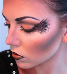 """I saw the latest challenge on Makeup Geek is to do a look using black and orange, it said to be inspired by a picture (?) so I googled """"oran..."""