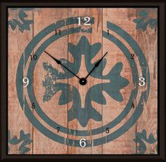 "Floral Target 11"" Art Wall Clock"