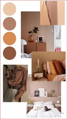 Color Schemes Colour Palettes, Colour Pallete, Brown Color Schemes, Interior Color Schemes, Bedroom Color Schemes, Color Trends, Aesthetic Room Decor, Room Decor Bedroom, House Colors