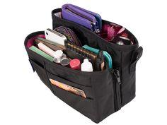 Medium Black with Berry purse organizer