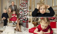 Monaco's royal twins steal show at official Christmas card photo shoot