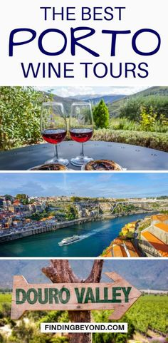 Are you looking for the best Porto wine tours? Or maybe the best Douro Valley wine tours? Check out these recommended wine tours in and around Porto, Portugal. Top cruises and tours Douro Portugal, Visit Portugal, Spain And Portugal, Algarve, Portugal Vacation, Portugal Travel Guide, Portugal Trip, Portugal Highlights, Portugal Attractions