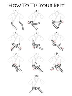 How to tie a taekwondo belt: I suck at this. >> Right goes