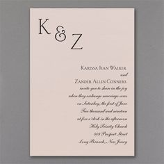 Sophistication - Invitation - Pastel Coral Shimmer. Available at Persnickety Invitation Studio.