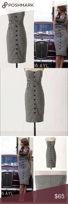 4819c5088adfd EUC Anthropologie Floreat plaid bow sheath dress 0 This is for an amazing  plaid sheath dress