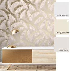 Vivienne Leaf Wallpaper Blush Gold In 2021 Leaf Wallpaper Feather Wallpaper Feature Wallpaper